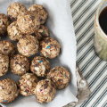 Chocolate PB2 Granola Bites Recipe featured by top US foodie blogger, Miss Molly Moon