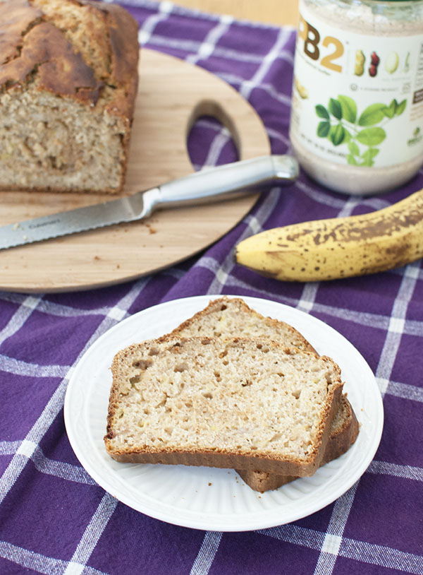 PB2 Banana Bread | Healthy Peanut Butter Banana Bread Recipe featured by top US food blogger, Miss Molly Moon
