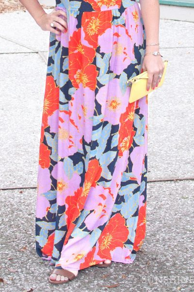 Bright, summery floral maxi dress from Ann Taylor LOFT.