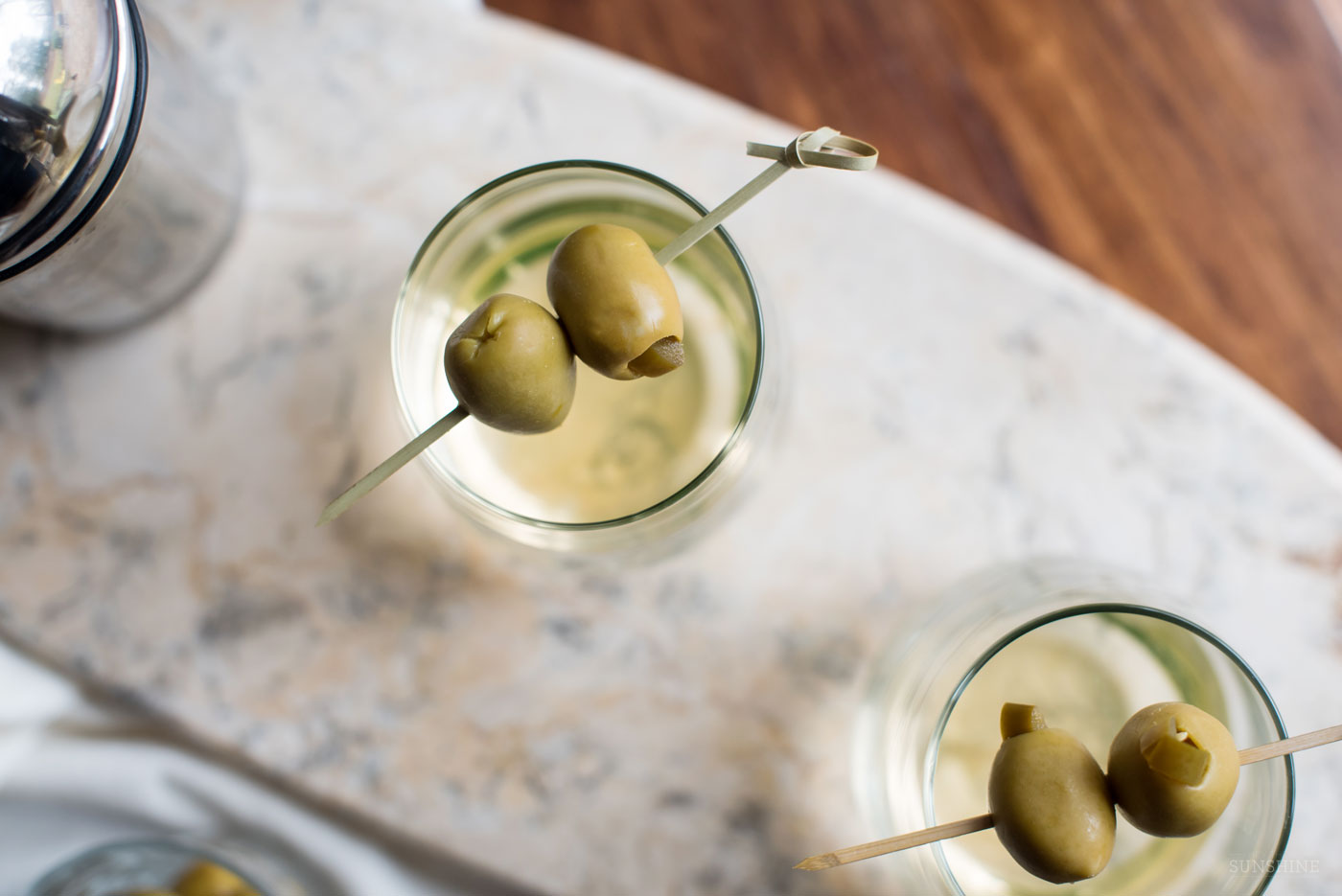 Dirty Jalapeno Martinis | Dirty Vodka Martini with Jalapeno featured by top Atlanta foodie blogger, Miss Molly Moon