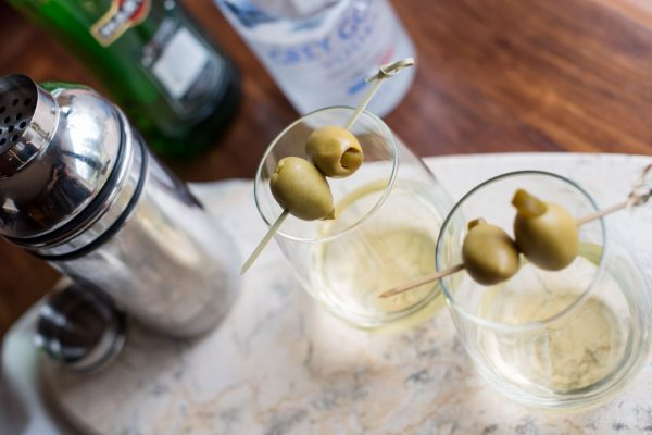 Dirty Vodka Martini with Jalapeno featured by top Atlanta foodie blogger, Miss Molly Moon