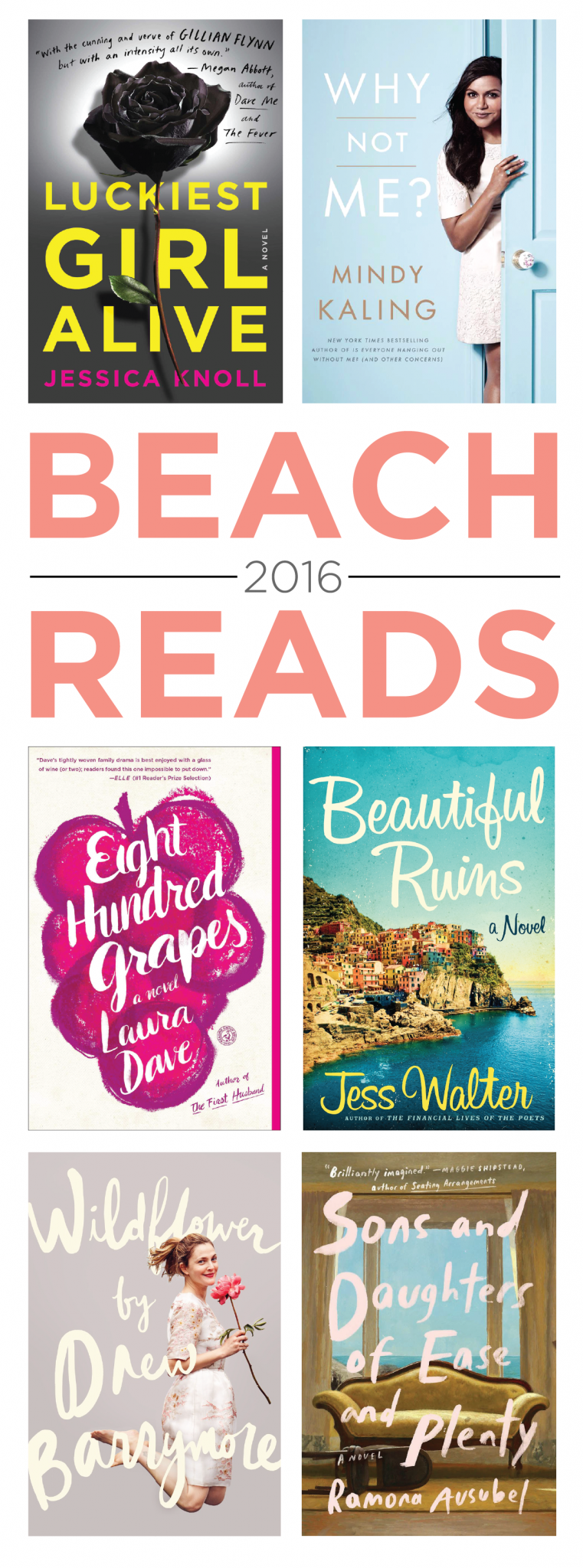 Books to read during your summer vacation.