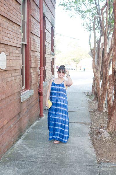 Summer date night in a breezy Target maxi dress.