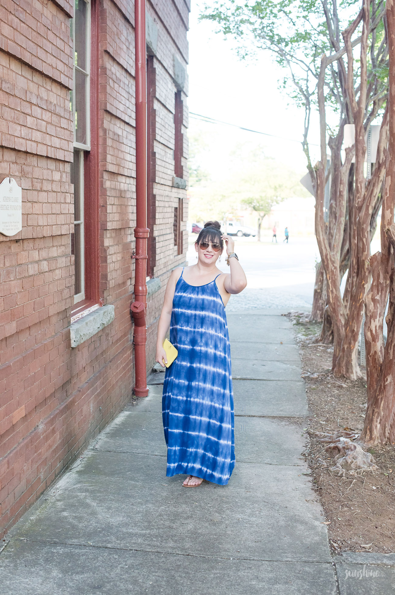 Summer date night in a breezy Target maxi dress.