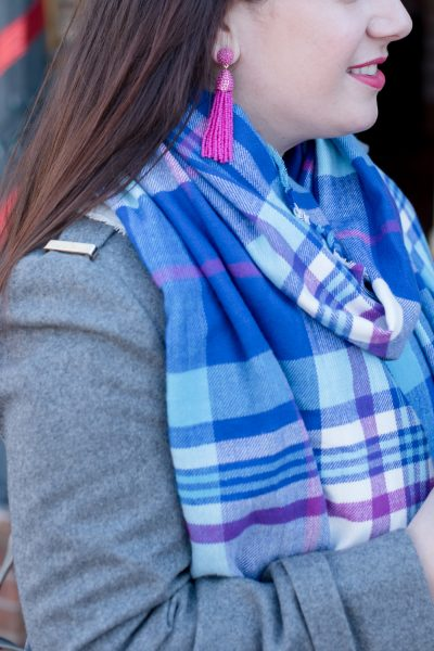 Statement Plaid Scarf for Winter via @missmollymoon