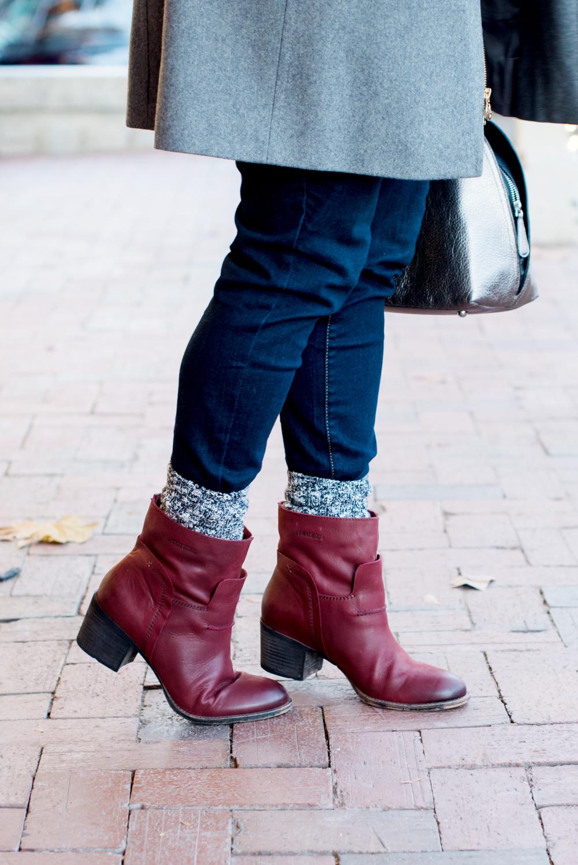 Cold Weather Style | Michael Kors Coat, OTBT Boots, Vera bradley Bag via @missmollymoon