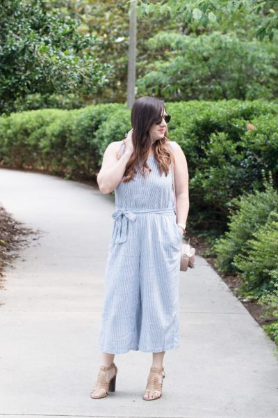 Summer Style: A Wide-Leg Seersucker Jumpsuit via @missmollymoon