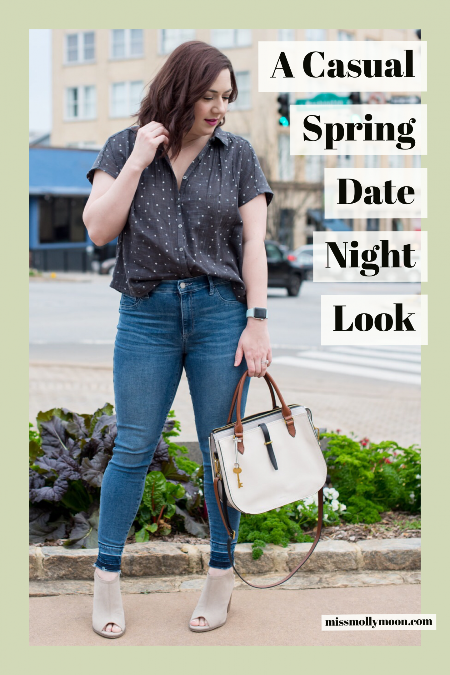 Polka Dot Button Down for Spring // Miss Molly Moon