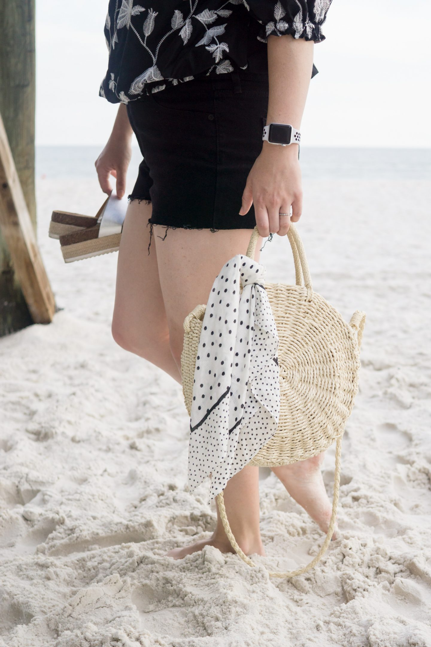 Beach Style for the Girl that Likes to Wear Black // Miss Molly Moon