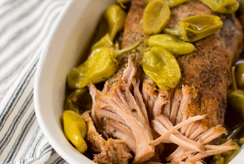 Three Ingredient Pepperoncini Pulled Pork